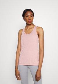 Nike Performance - YOGA LAYER TANK - Sportshirt - pink glaze/heather/white/rust pink - 0