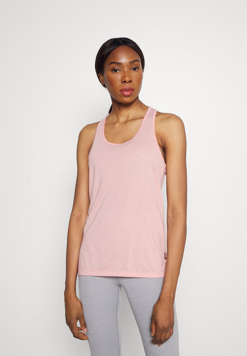 Nike Performance - YOGA LAYER TANK - Sportshirt - pink glaze/heather/white/rust pink