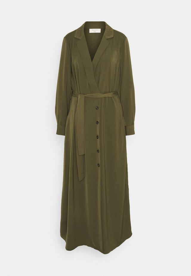 FQDEE - Robe longue - olive night