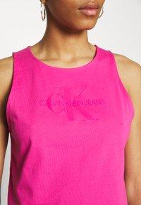 Calvin Klein Jeans - TONAL MONOGRAM TANK - Top - party pink - 3