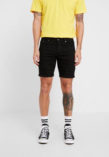MR ORANGE - Denim shorts - black