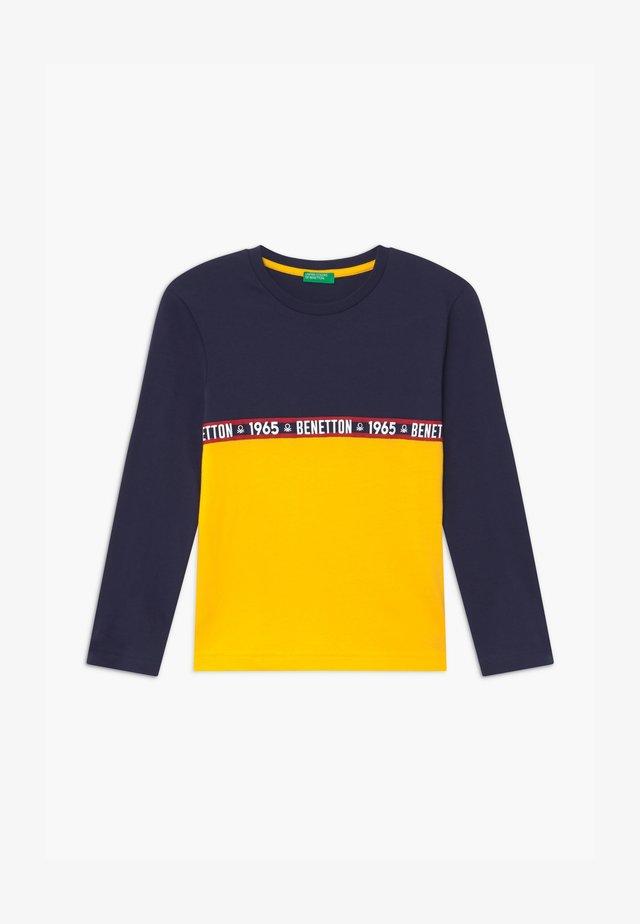 BASIC BOY - Långärmad tröja - dark blue/yellow