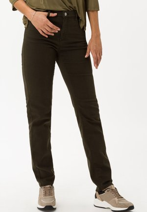 STYLE MARY - Jean slim - dark olive