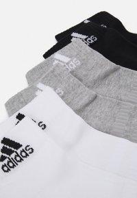 adidas Performance - CUSH ANK UNISEX 6 PACK - Sports socks - medium grey heather/white - 2