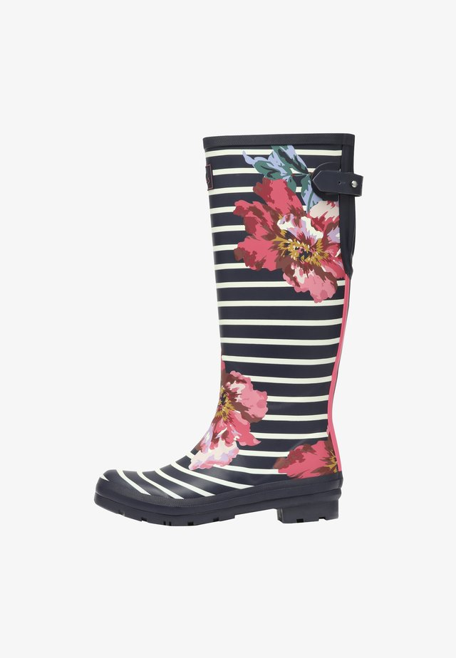 WELLY PRINT - Wellies - navy floral