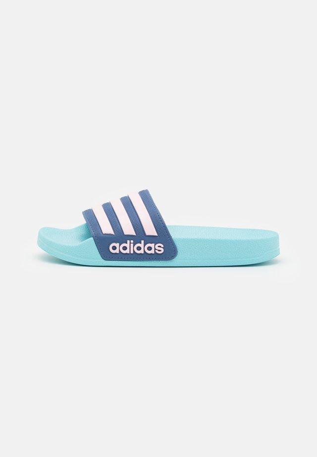 ADILETTE SHOWER UNISEX - Sandály do bazénu - hazy sky/clear pink/crew blue