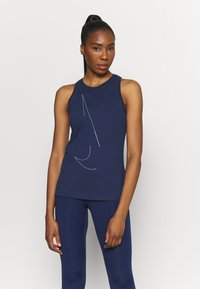 Nike Performance - DRY TANK  YOGA - Sports shirt - midnight navy - 0