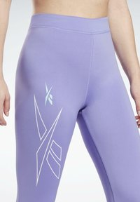 Reebok - MYT HIGH RISE LEGGINGS - Leggings - purple - 3