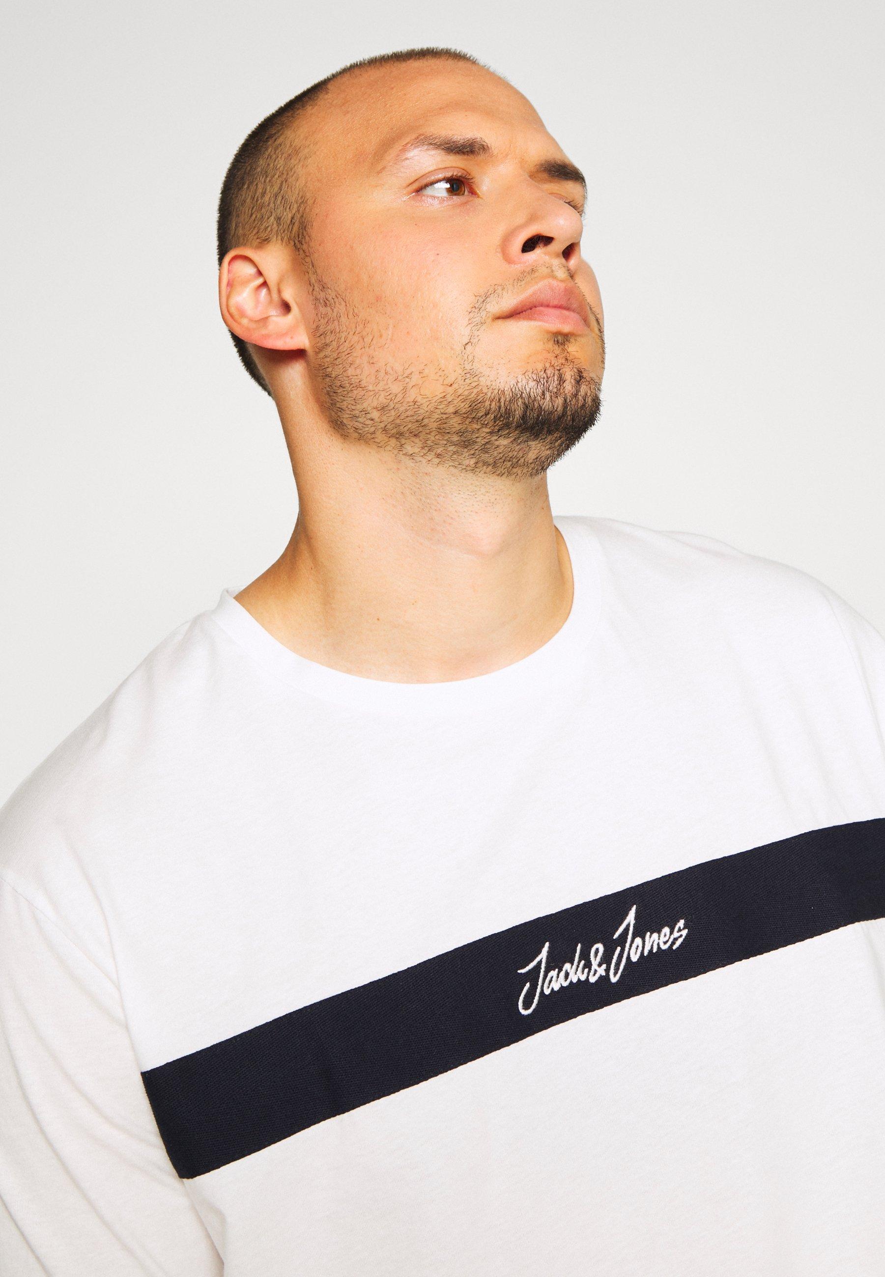 Jack & Jones JORCOARSE TEE CREW NECK - Print T-shirt - cloud dancer 1WZXh