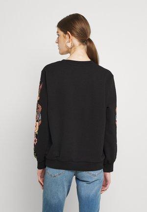 ONLCONNY  LIFE O NECK - Sweatshirt - black