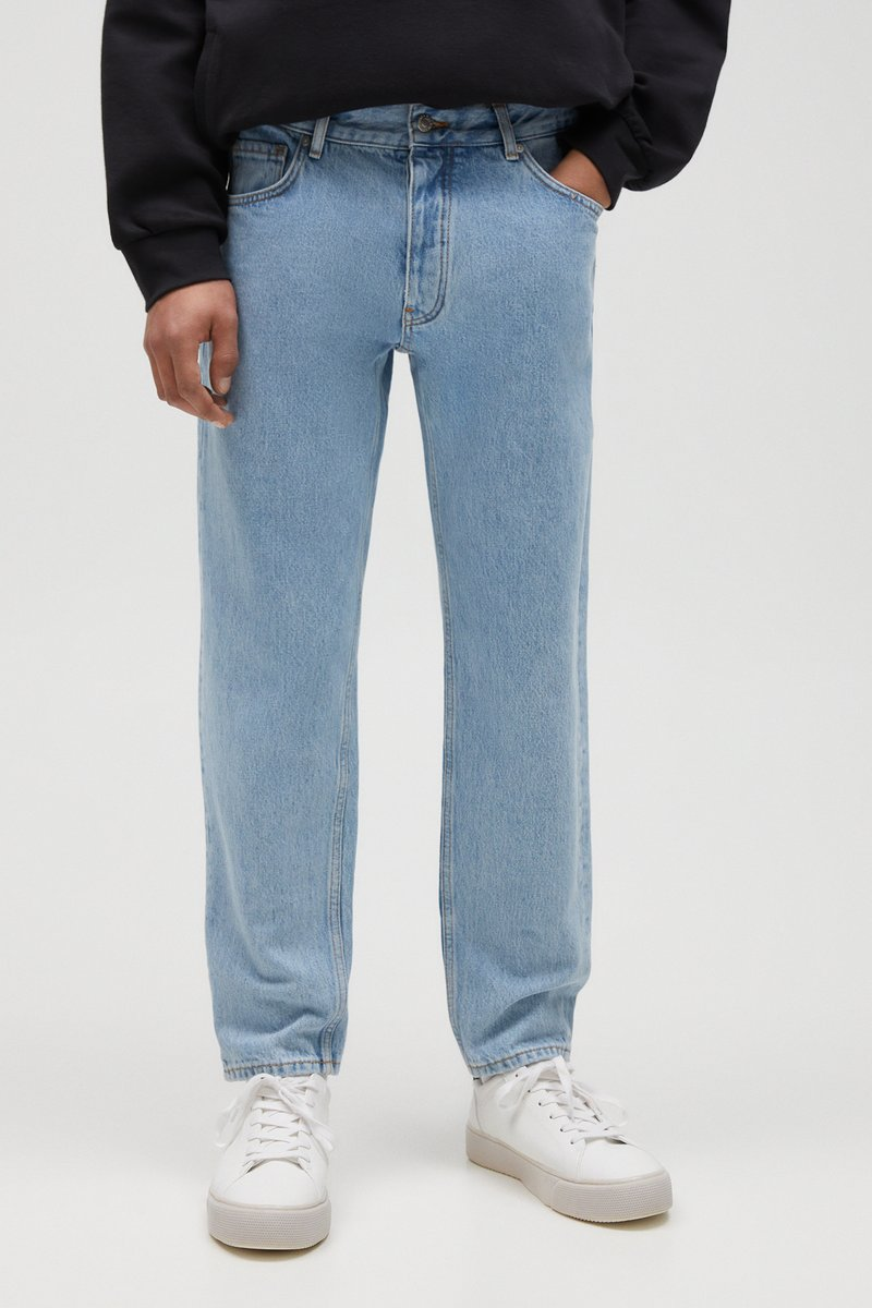 PULL&BEAR - Straight leg -farkut - light blue
