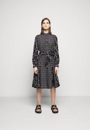 FUTURE LOGO DRESS - Shirt dress - digital karl black