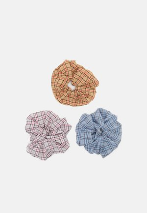 PCILU OVERSIZED SCRUNCHIE 3 PACK - Hair Styling Accessory - tan/grey/blue