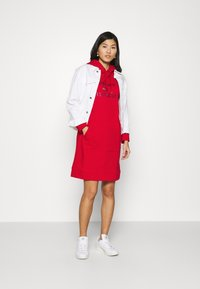 Tommy Hilfiger - TIARA HOODED DRESS - Day dress - primary red - 1