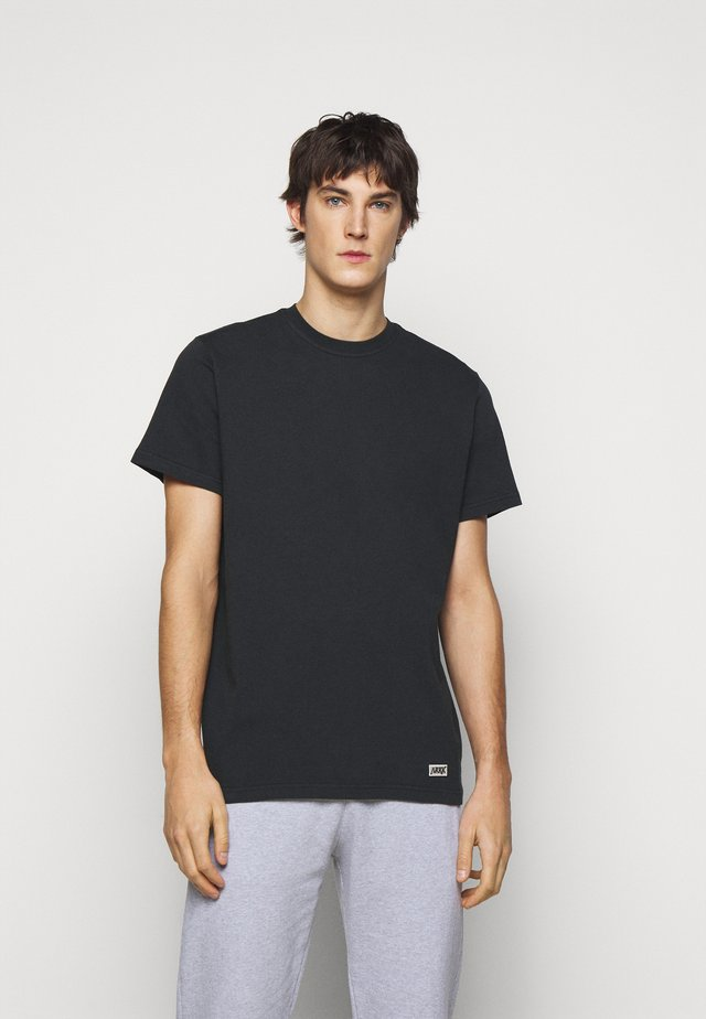 BOX LOGO TEE - Basic T-shirt - black