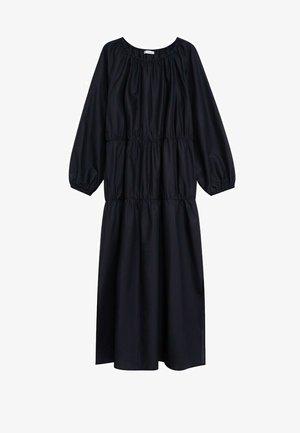 MIT RÜSCHEN - Robe d'été - schwarz