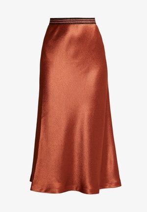 MIDI SKIRT - A-line skirt - light brown