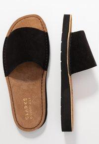 Clarks Originals - LUNAN SLIDE - Pantofle - black - 3