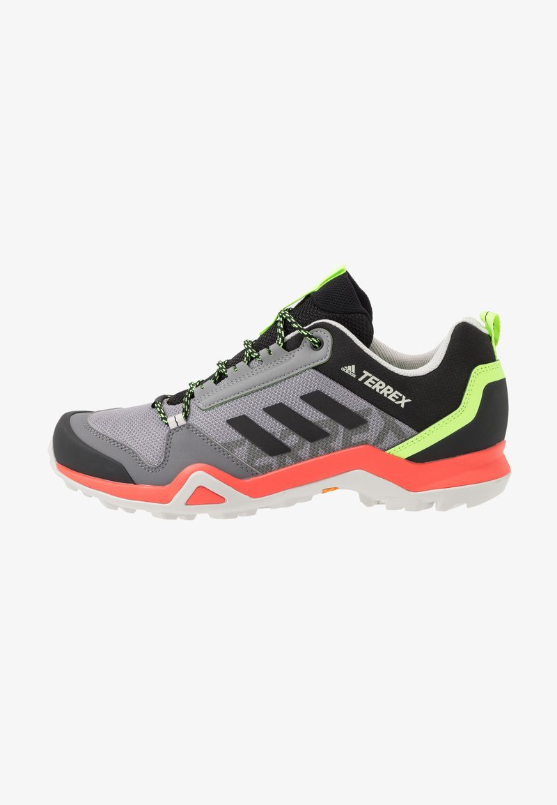 adidas Performance - TERREX AX3 - Obuwie hikingowe - grey three/core black/signal green