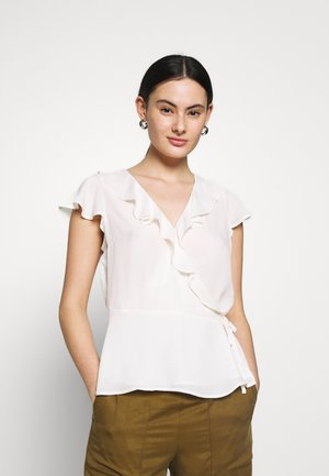 EXCLUSIVE RUFFLE WRAP SOLIDS - Blouse - snow day