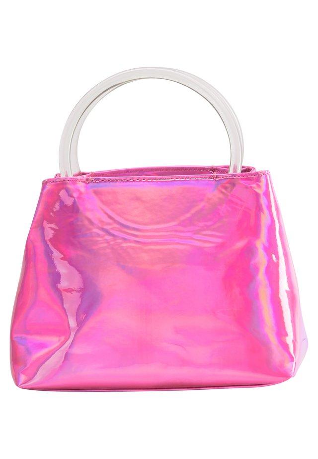 Handtas - pink holo