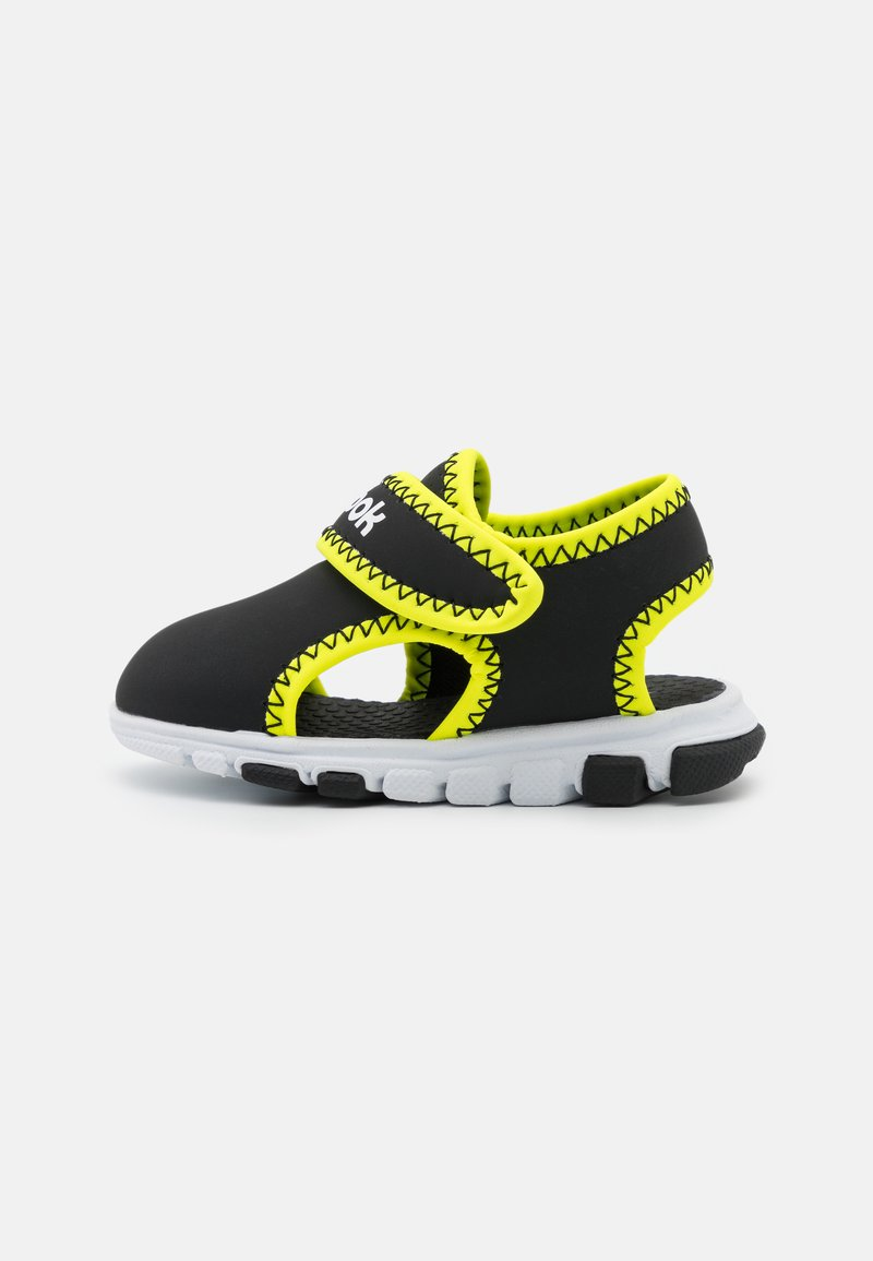 Reebok - WAVE GLIDER III UNISEX - Walking sandals - black/yellow flare/white