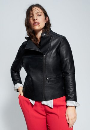 BARROW6 - Leather jacket - schwarz