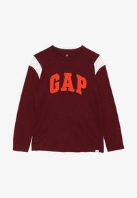 GAP - BOY LOGO TEE - Bluzka z długim rękawem - red delicious - 3