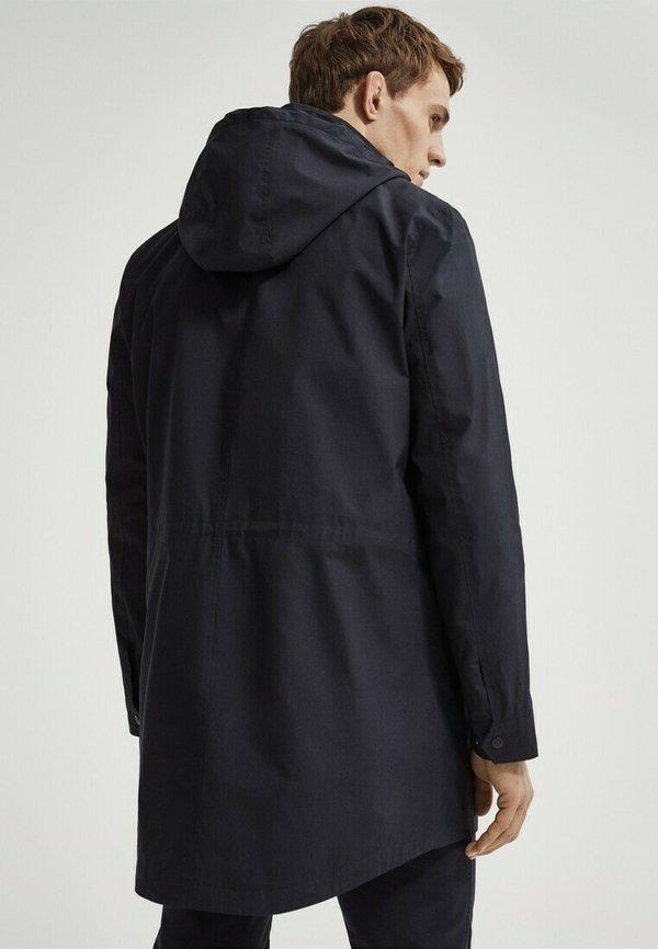 Massimo Dutti Parka - blue-black denim/czarnoniebieski denim Odzież Męska ZKVS