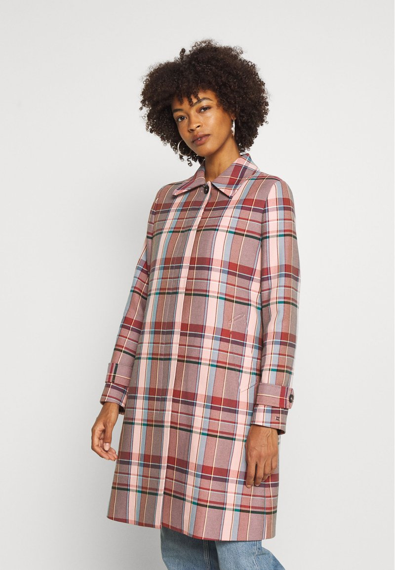 Tommy Hilfiger - TESS BLEND CHECK - Classic coat - cameo