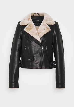 VMFALLLEAONIE SHORT JACKET - Giacca in similpelle - black