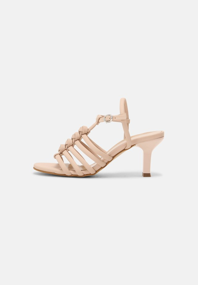 LEATHER - Sandals - nude