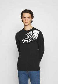 The North Face - SHOULDER LOGO TEE - Long sleeved top - black - 0