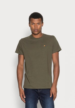 REGULAR EMBROIDERED  - Print T-shirt - army mel