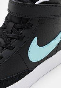 Nike Sportswear - BLAZER MID '77 UNISEX - High-top trainers - black/glacier ice/white/pink glow - 5