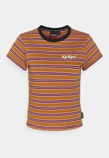 STRIPE RINGER TEE - T-shirt con stampa - brown