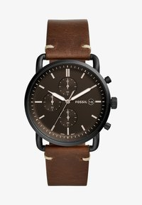 Fossil - COMMUTER - Chronograph watch - braun