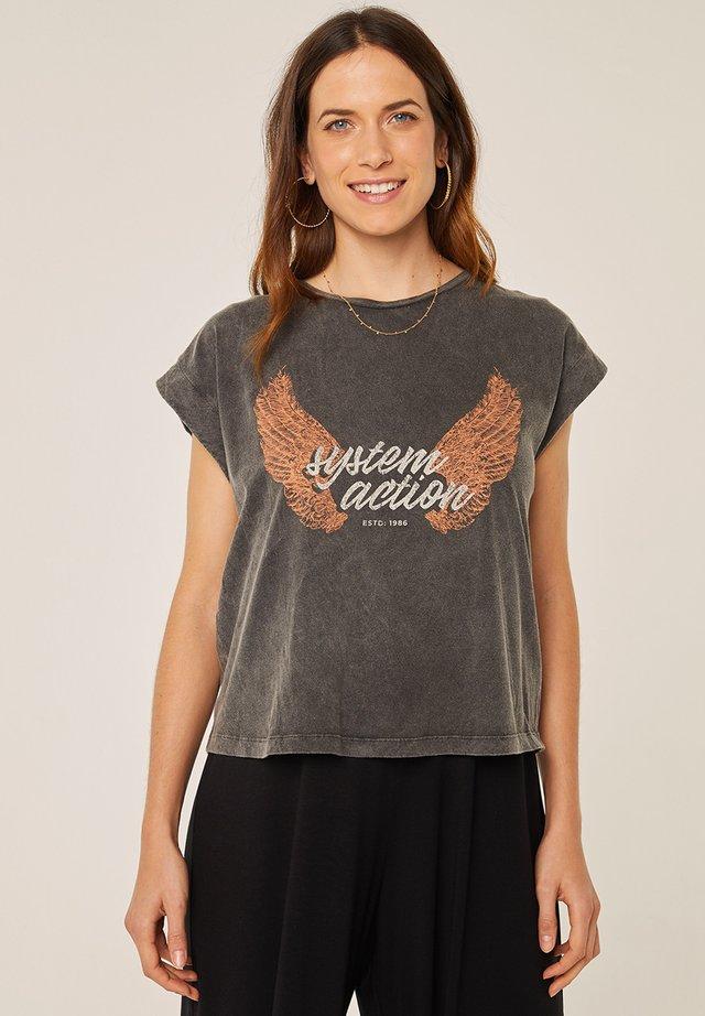 T-shirt print - antracita