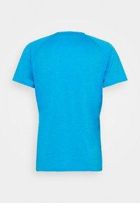 Puma - HEATHER TEE - Basic T-shirt - blue heather - 1