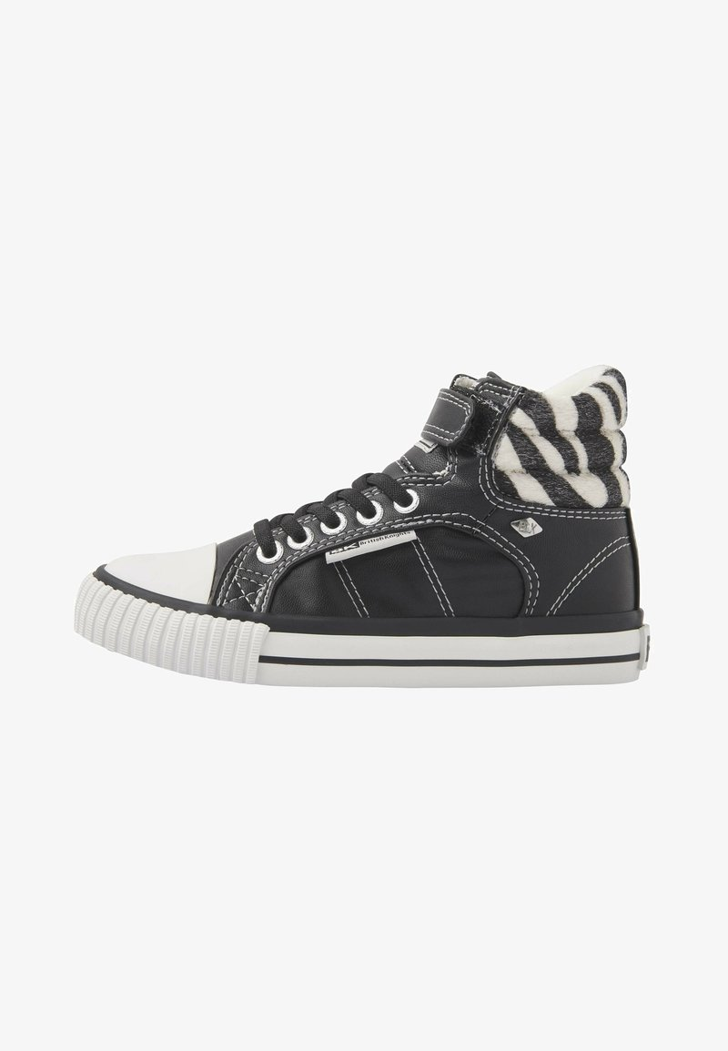 British Knights - ATOLL - High-top trainers - black/zebra