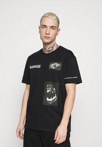 YOURTURN - UNISEX - T-shirt con stampa - black - 0