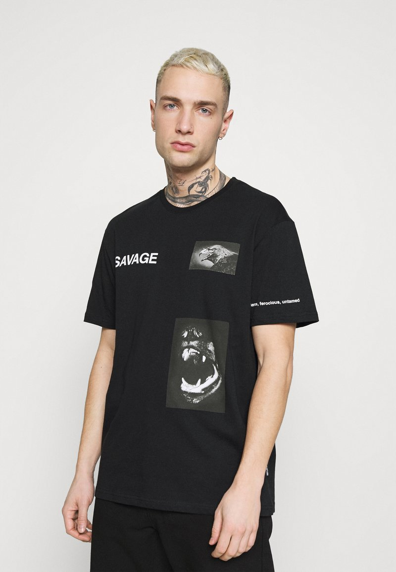YOURTURN - UNISEX - T-shirt con stampa - black