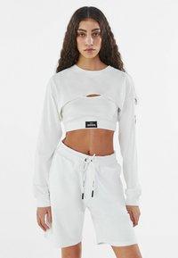 Bershka - Long sleeved top - white - 0