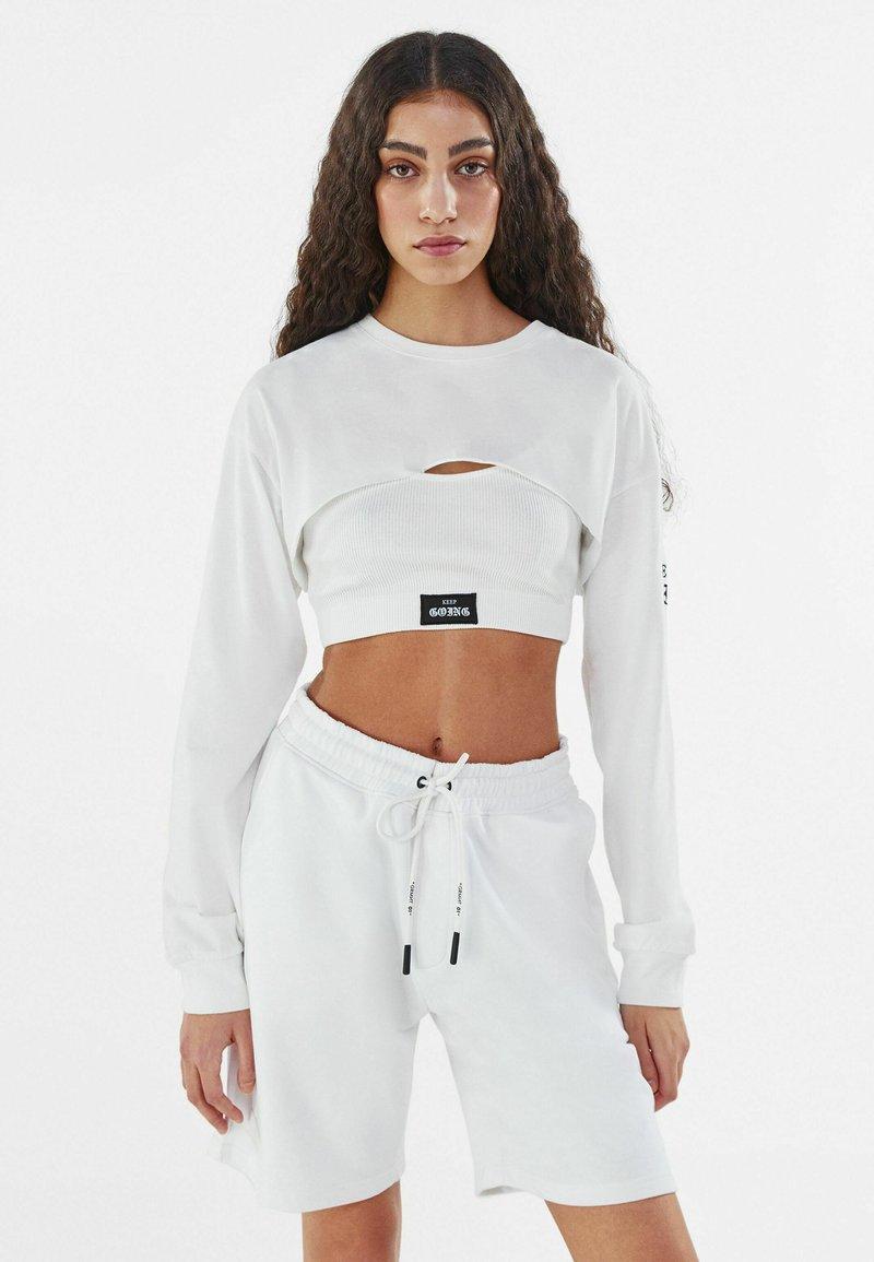Bershka - Long sleeved top - white