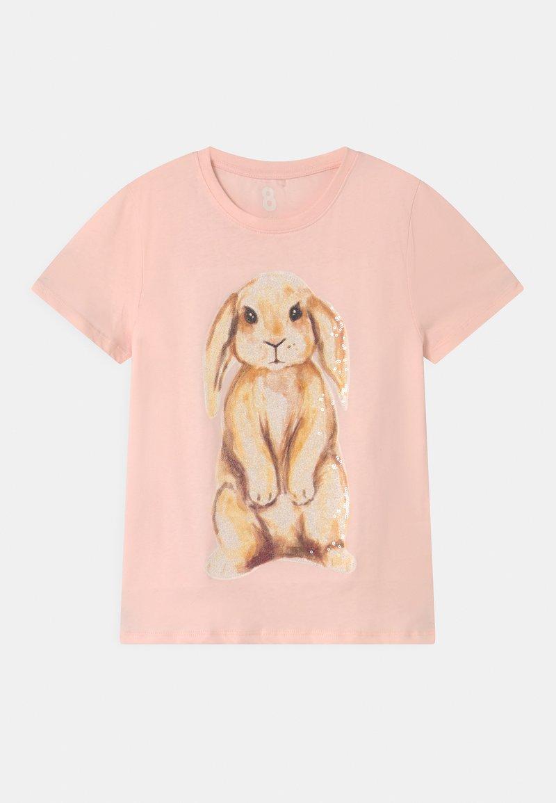 Cotton On - STEVIE EMBELLISHED  - Triko spotiskem - crystal pink/watercolour bunny