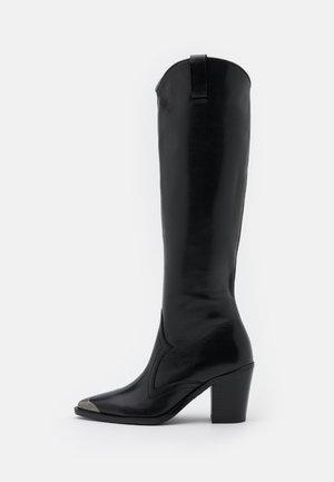 NEW AMERICANA  - Kovbojské/motorkářské boty - black