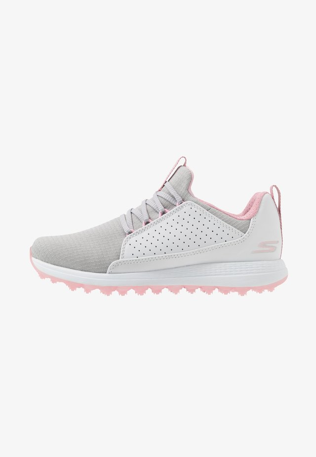 MAX MOJO - Golf shoes - white/gray/pink