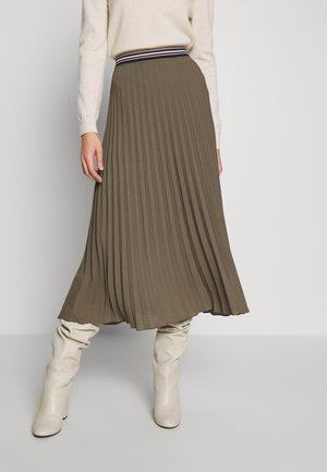 KURZ - A-line skirt - dark olive