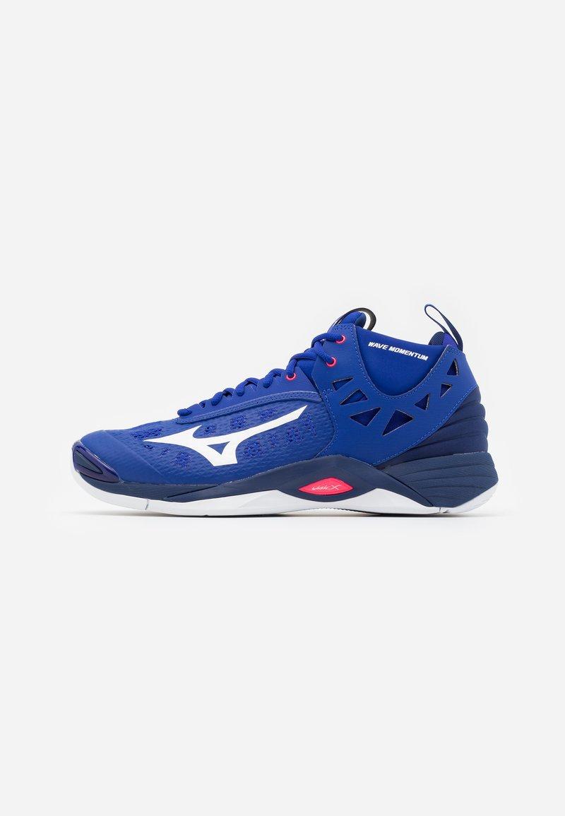 Mizuno - WAVE MOMENTUM MID - Volejbalové boty - reflex blue/white