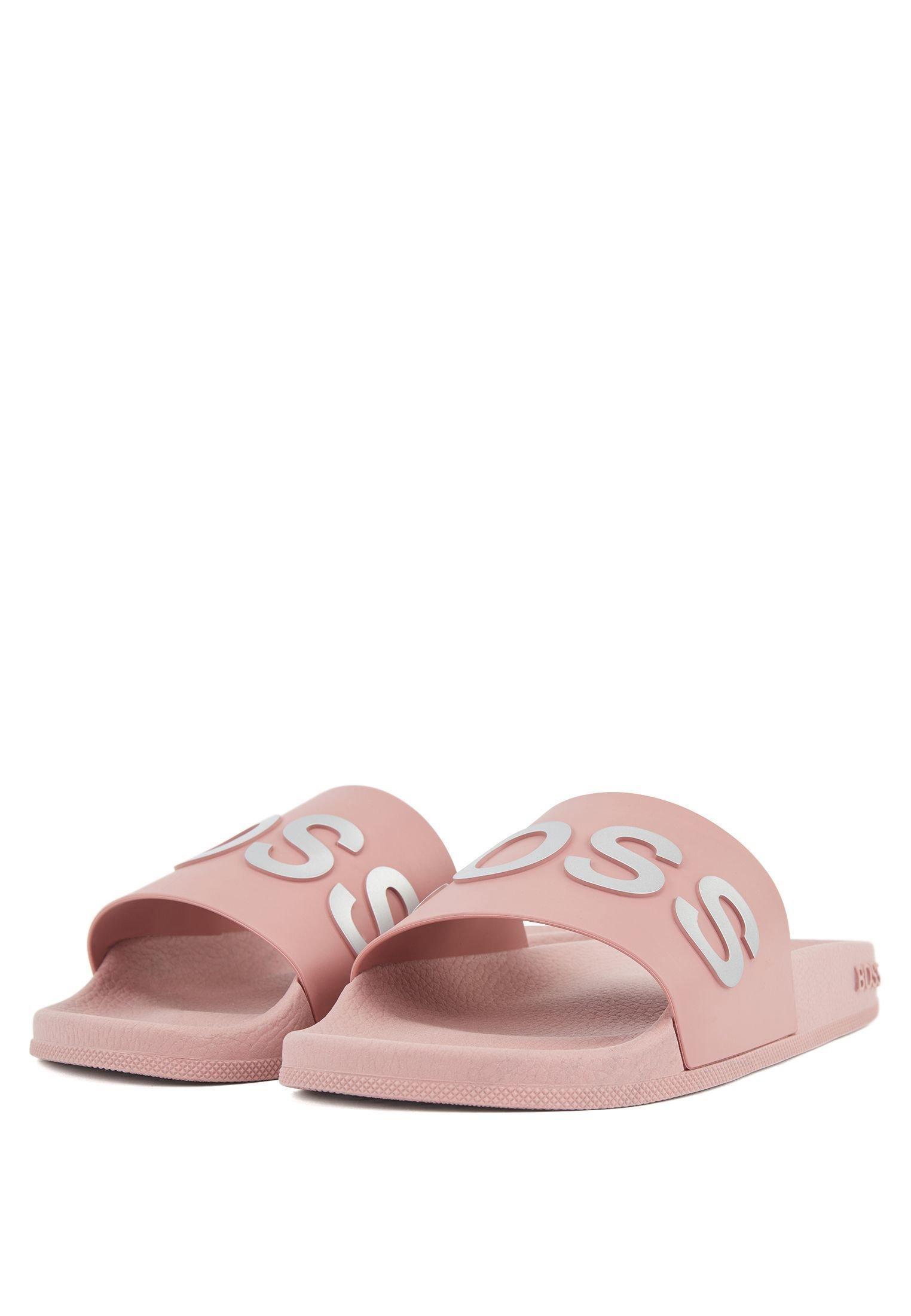 Boss Bay_slid_rblg - Badesandaler Light Pink